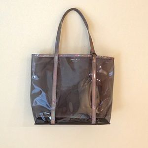Jimmy Choo Parfums Iridescent Purple Clear Tote